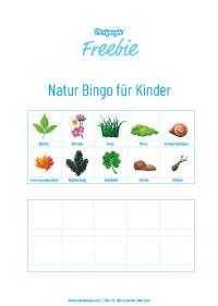 Freebie Natur bingo