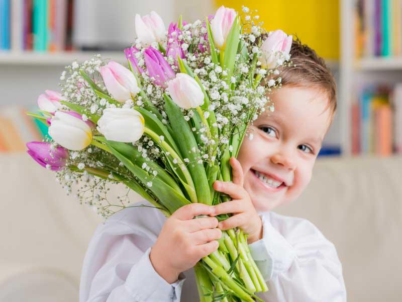 Blumen für die Mama