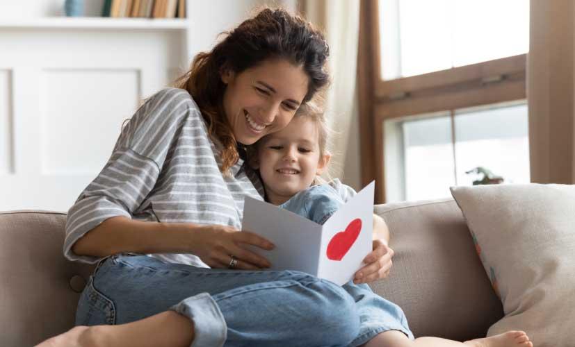 Grußkarte als Muttertagsgeschenk