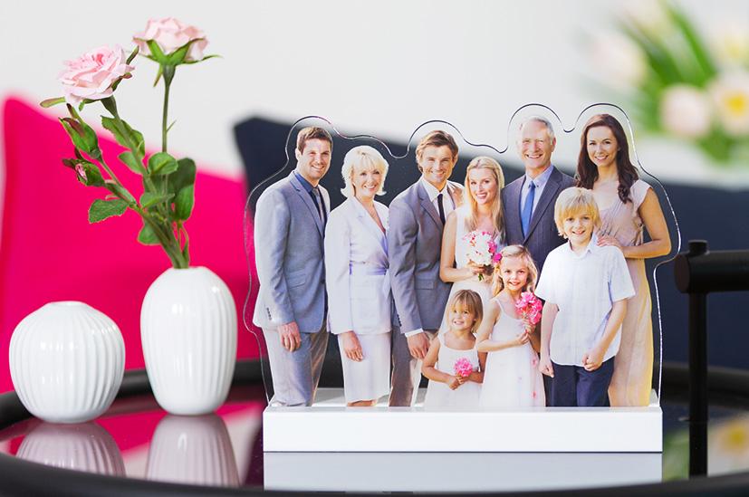 Familienfotos zum Aufstellen