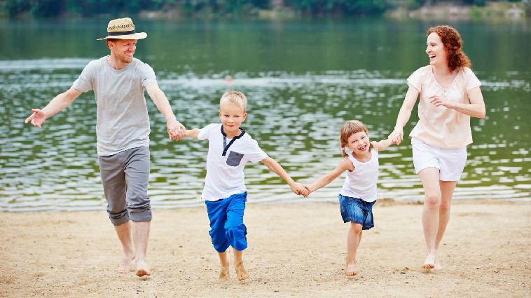 Strandfoto Familie